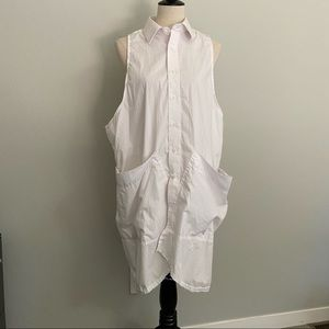 State the Label white smock oversized